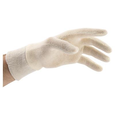 Gestrickte Handschuhe aus Baumwolle