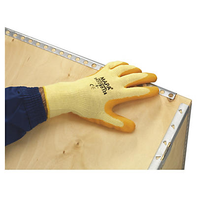 Gestrickte Handschuhe mit Latexbeschichtung