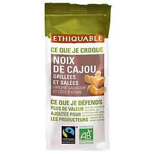 Gezouten cashewnoten Bio Ethiquable pakje van 125 g