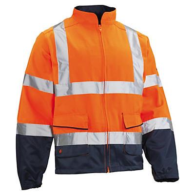 Giacca da lavoro alta visibilità arancione/blu