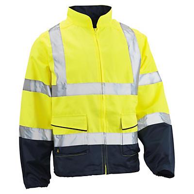 Giacca da lavoro alta visibilità giallo/blu