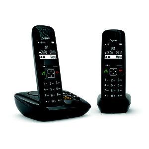 Gigaset Téléphone sans fil AS690A Duo avec répondeur - Noir