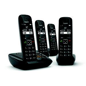 Gigaset Téléphone sans fil AS690A Quattro avec répondeur - Noir