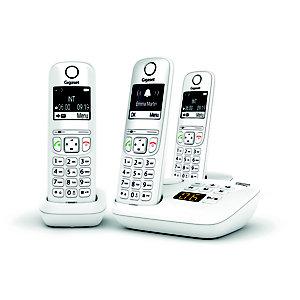 Gigaset Téléphone sans fil AS690A Trio avec répondeur - Blanc