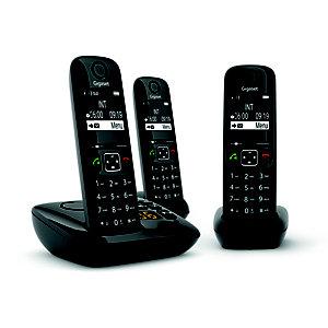 Gigaset Téléphone sans fil AS690A Trio avec répondeur - Noir