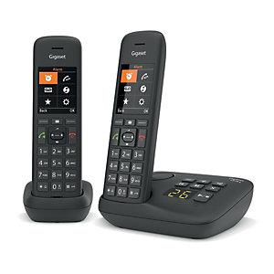 Gigaset Téléphone sans fil C575A Duo avec répondeur - Noir
