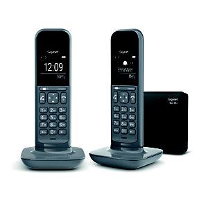 Gigaset Téléphone sans fil CL390 pack duo avec répondeur gris foncé