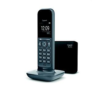 Gigaset Téléphone sans fil CL390A répondeur gris foncé