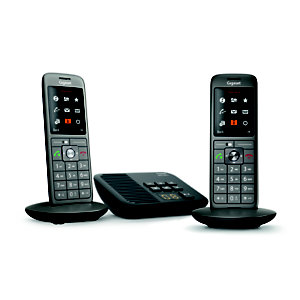 Gigaset Téléphone sans fil CL660A Duo, avec répondeur - Anthracite
