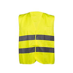 Gilet ad alta visibilità, Taglia unica, Giallo fluorescente