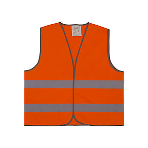 Gilet de signalisation 2 bandes orange XL