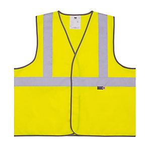 Gilet de signalisation 3 bandes jaune XL
