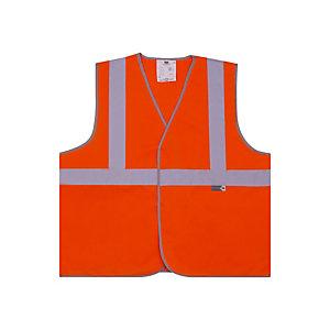 Gilet de signalisation 3 bandes orange XL