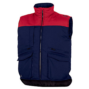 Gilets multipoches marine et rouge. Delta Plus, taille S