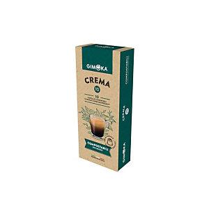 GIMOKA Capsule per caffè espresso Crema, Compostabili, 10 dosi, Compatibili Nespresso®*