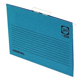 gio by Elba Carpeta colgante para cajón, Folio, visor superior, lomo V, azul