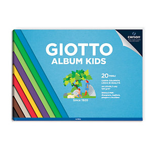 GIOTTO Kids Album carta colorata, A4, 20 fogli 120 g/m²