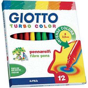 """GIOTTO Pennarelli """" Turbo Color"""" - Colori assortiti (confezione 12 pezzi)"""
