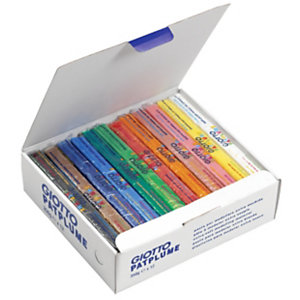 GIOTTO Plastilina, caja de 12 pastillas de 350 gr, colores surtidos
