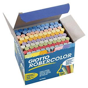 GIOTTO Robercolor 100 tizas de colores antipolvo