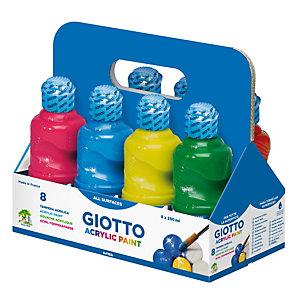 GIOTTO Tempera pronta acrilica - 250ml - colori assortiti - Giotto - schoolpack 8 flaconi