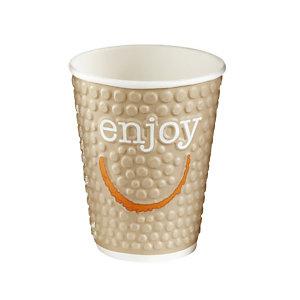Gobelet en carton ENJOY pour boissons chaudes ou froides, 20 cl colis de 30.