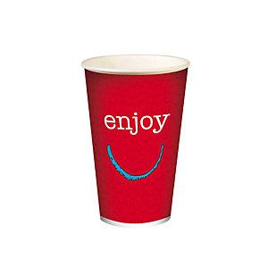 Gobelet en carton ENJOY pour boissons froides, 40 cl colis de 50