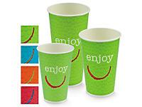 Gobelet de couleur carton : rouge, jaune, bleu, vert _ RAJA