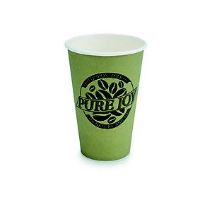 Gobelet jetable en carton biodégradable Pure Joy vert - 30 cl
