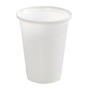 Gobelets pour boissons froides, en plastique blanc, 18 cl, colis de 500