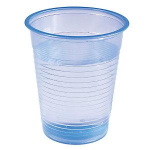 Gobelets pour boissons froides, en plastique translucide bleu, 20 cl, colis de 500