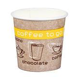 Gobelets Coffee To Go pour boissons chaudes, en Carton, 10 cl, colis de 50
