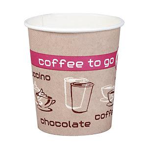 Gobelets Coffee To Go pour boissons chaudes, en Carton, 18 cl, colis de 75