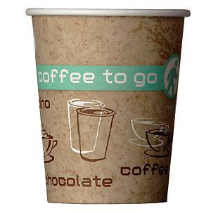 Gobelets Coffee To Go pour boissons chaudes, en Carton, 20 cl, colis de 50