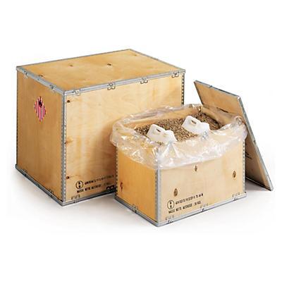 UN - godkända lådor av plywood för farligt gods