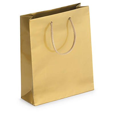 Gold gloss laminated gift bags