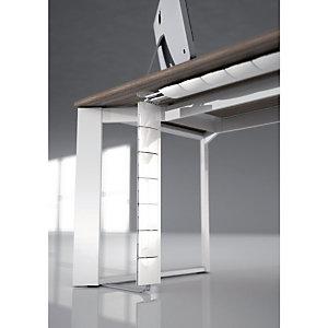 Goulotte Flap organisateur de câbles de bureau - Horizontale Blanc