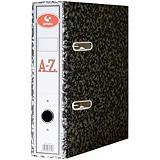 GRAFOPLAS AZ Archivador Clásico A-Z Jaspeado Gris tamaño Folio