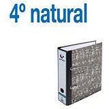 GRAFOPLAS AZ Ecoclassic Archivador de palanca, 4º natural, Lomo 75 mm, Capacidad 500 hojas, Cartón resistente recubierto de papel impreso, Negro jaspeado