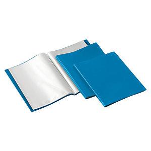 GRAFOPLAS Carpeta de fundas Folio, 20 fundas rugosas, azul