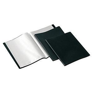 GRAFOPLAS Carpeta de fundas Folio, 20 fundas rugosas, negro