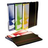 GRAFOPLAS Carpeta de fundas Folio, 40 fundas, cubierta rígida, lateral personalizable, negro