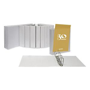 GRAFOPLAS Carpeta de presentación de 4 anillas de tipo D de 40 mm, A4, lomo 60 mm, polipropileno, blanco