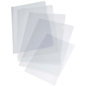 GRAFOPLAS Dossier uñero, A4, PVC liso, 200 micras, transparente