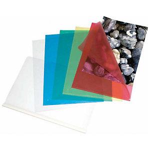 GRAFOPLAS Dossier uñero, Folio, polipropileno rugoso, 120 micras, transparente