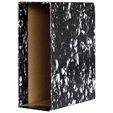 GRAFOPLAS Ecoclassic Cajetín para archivador, Folio, Lomo 80 mm, Cartón, Negro jaspeado