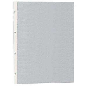 GRAFOPLAS Funda perforada, Folio, PVC de 100 micras, 4 orificios, lisa, transparente