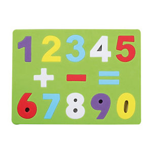 GRAFOPLAS Puzle de goma EVA Números y signos