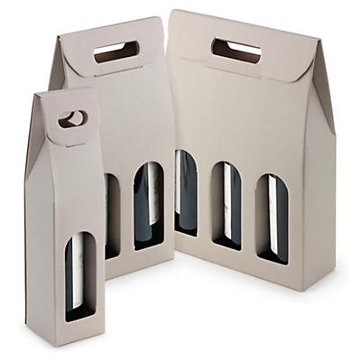 Grey presentation bottle boxes