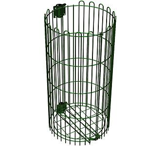 Grilles de protection métal verte pour habillage supports sacs 110 L